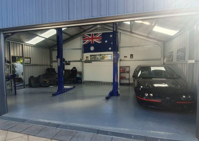 Triple Garage Shed