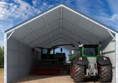 tractor machinary storage sheds